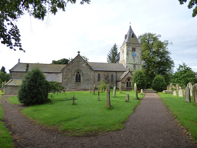 St Maurice, Eglingham - view from north