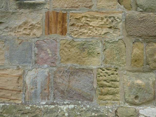 St Maurice, Eglingham - tower stonework