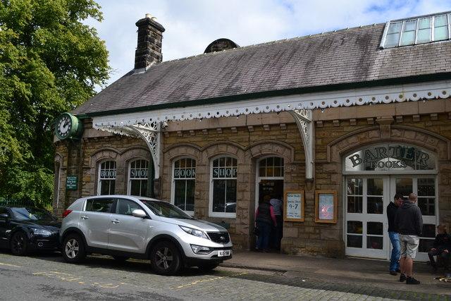 Alnwick Station, now a bookshop
