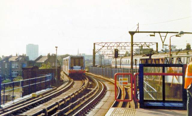 Limehouse DLR station, 1997