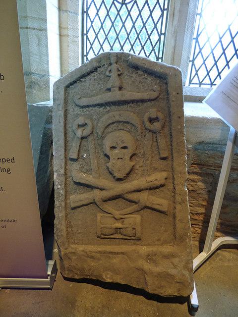 St Maurice, Eglingham - skull and crossbones