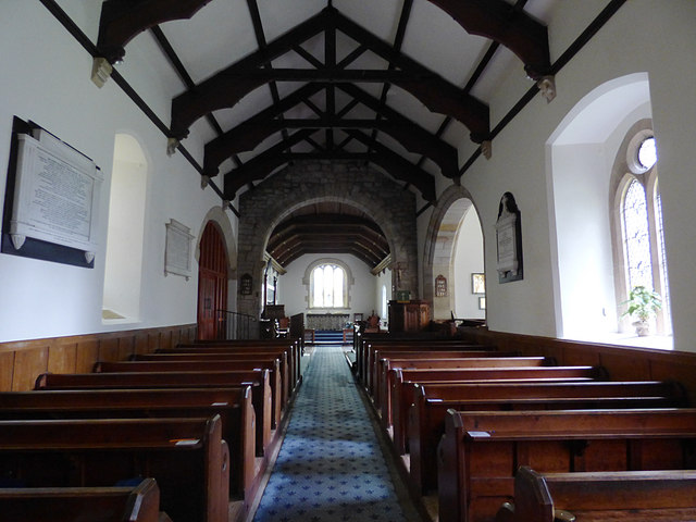 St Maurice, Eglingham - nave looking east