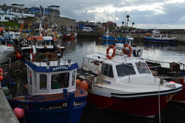 Fishing boats at Seahouses