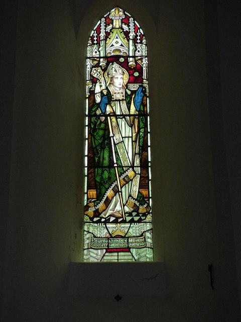 St Maurice, Eglingham - St Aidan window
