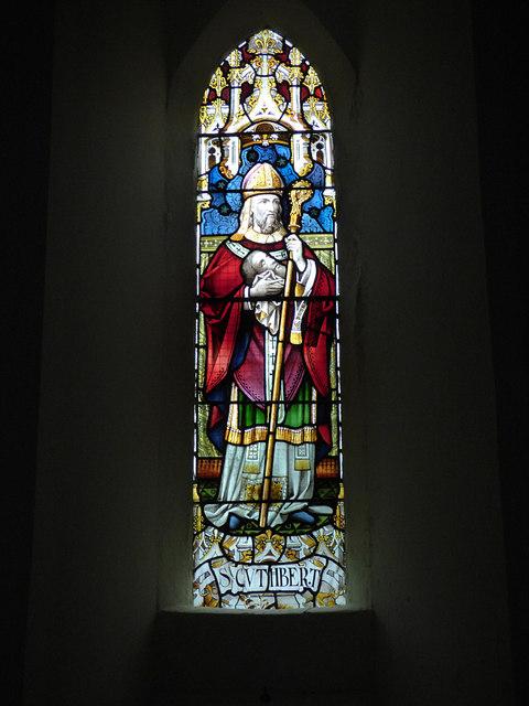 St Maurice, Eglingham - St Cuthbert window