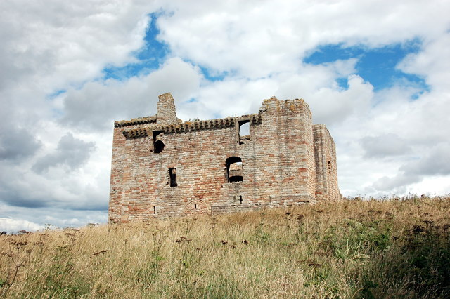 Crichton Castle: view from the west.