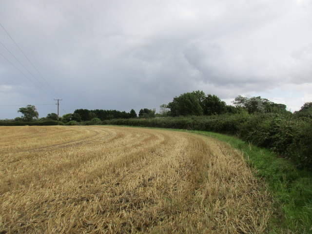 Stubble field at Thirtleby