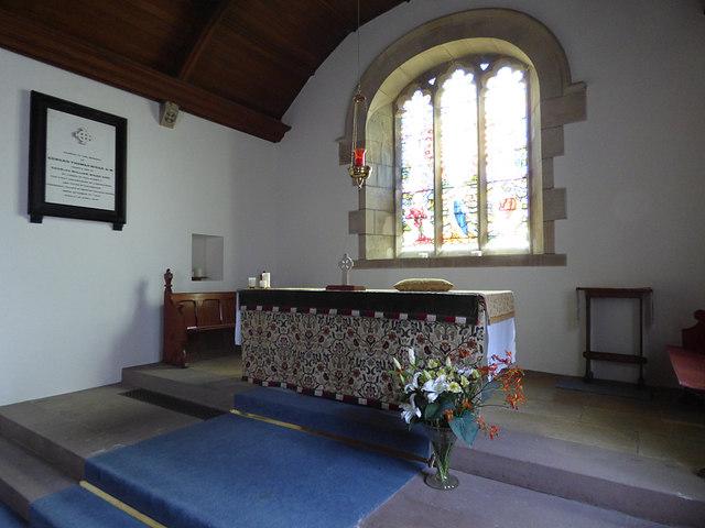 St Maurice, Eglingham - altar