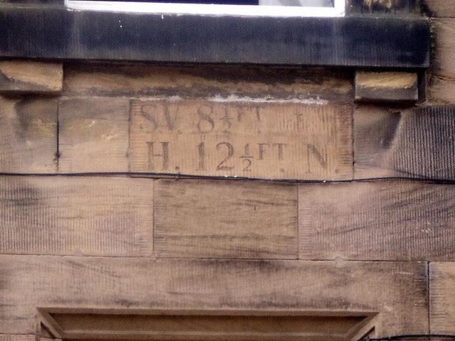 Valve marker stone, Lisburn Street, Alnwick