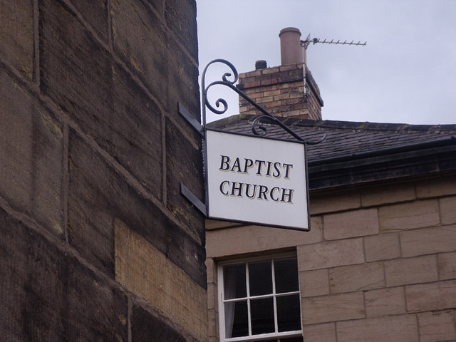 Sign for Alnwick Baptist Church