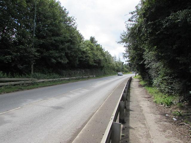 A467 towards the B4248 crossroads, Brynmawr