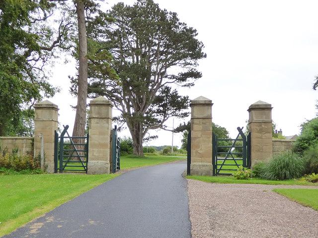Gates of Fallodon West Lodge
