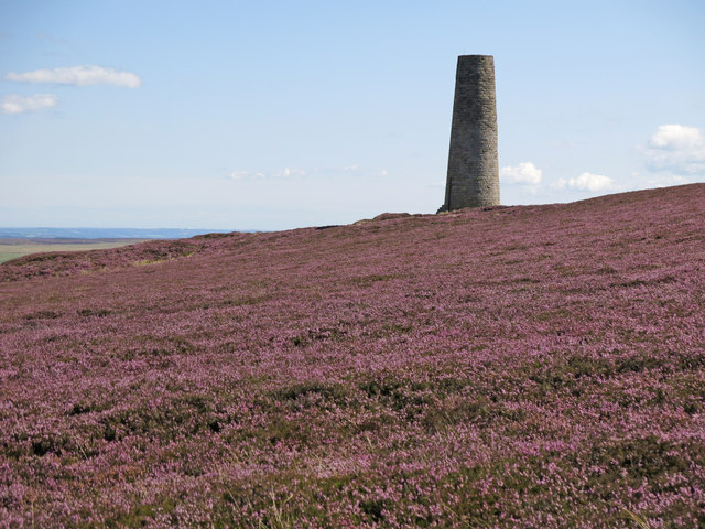 Heather moorland west of the northern Allendale lead smelting flue chimney