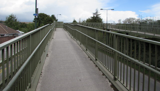 Footbridge access ramp, Brynmawr