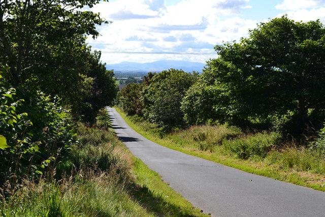 View down lane near Blackhouse