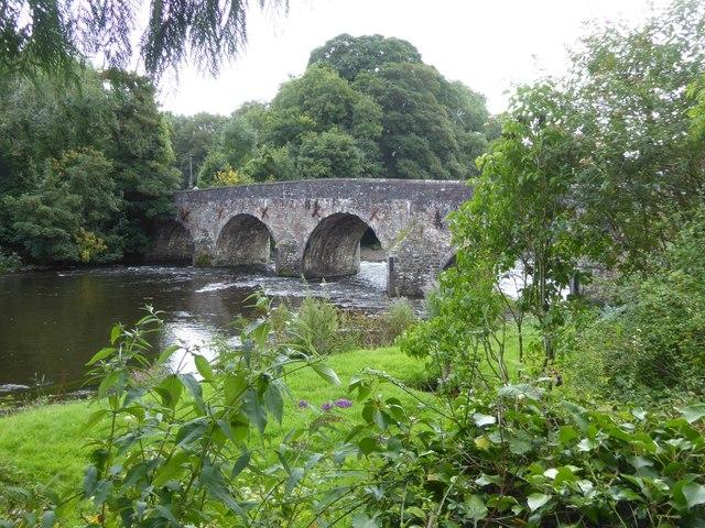 Bickleigh Bridge over River Exe
