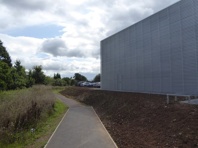 Side wall of a car showroom, Matford Industrial Estate