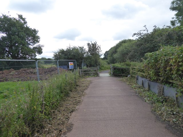 Foot and cycle bridge on Matford Marshes
