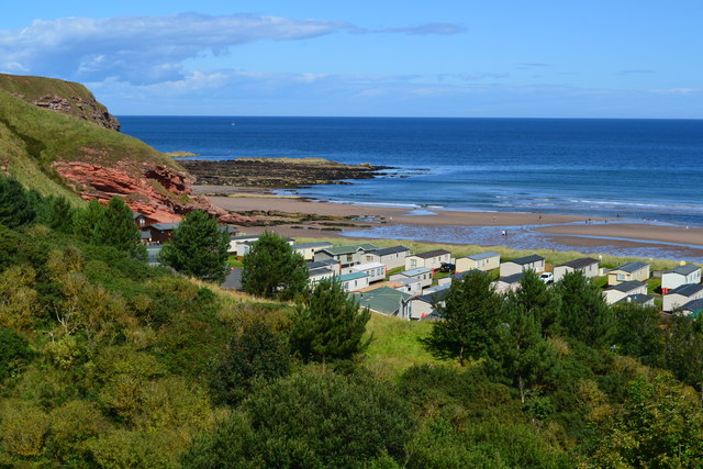 View over Pease Bay