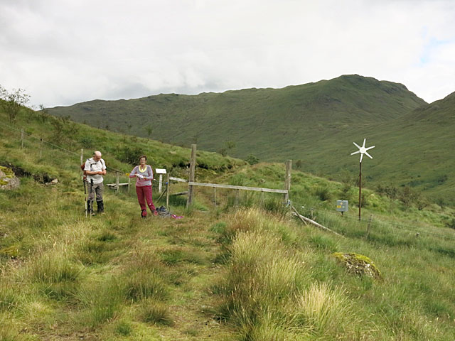 Boundary of a Mountain Woodland Project in Gleann a' Chlachain