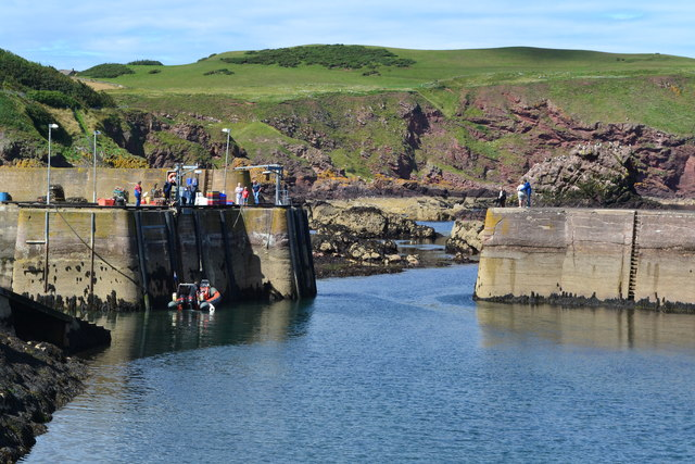 St Abbs Harbour entrance