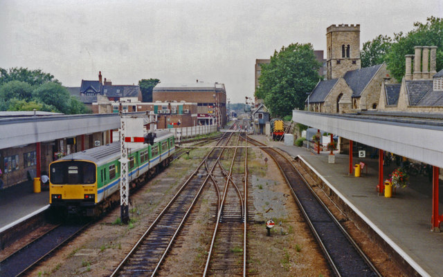 Lincoln Central station, westward 1992