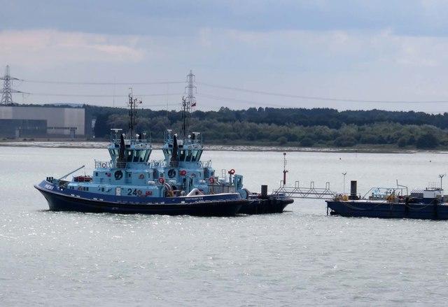 Tugs on the Marine Terminal in Fawley