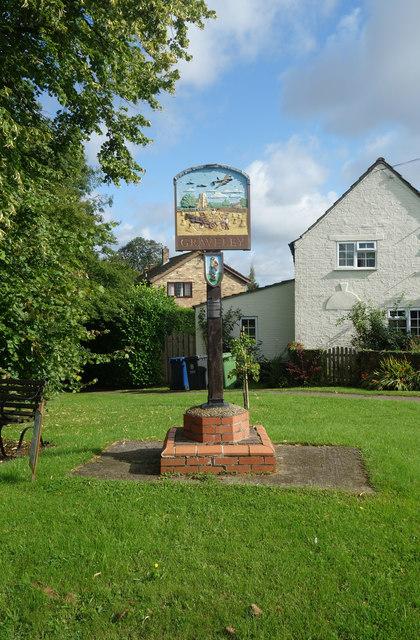 Graveley village sign