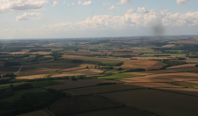 From Dalby northwestwards across Sutterby: aerial 2017