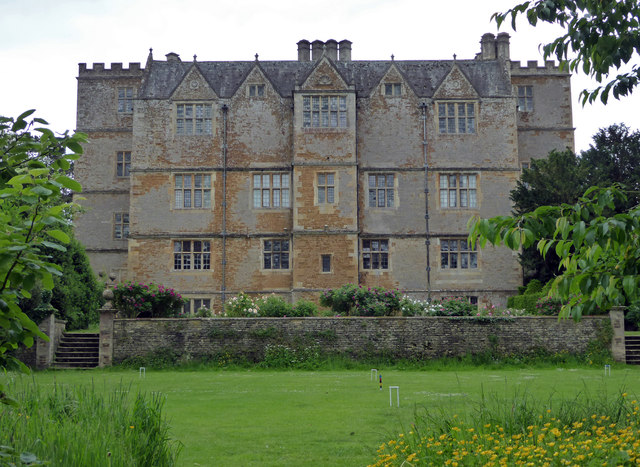 Chastleton House across the croquet lawn