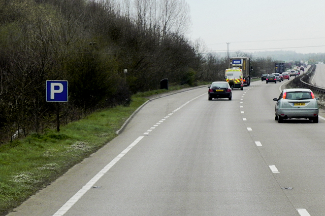 Layby on the northbound A483 near Dodleston