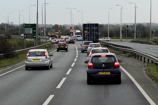 A483 at Belgrave Bridge