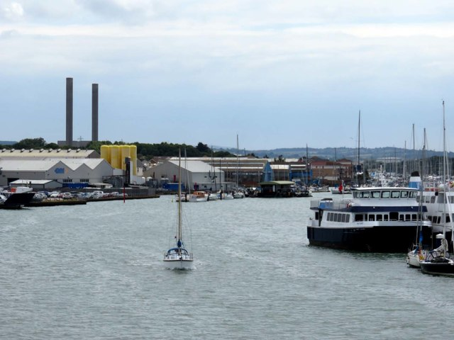 The River Medina in Cowes