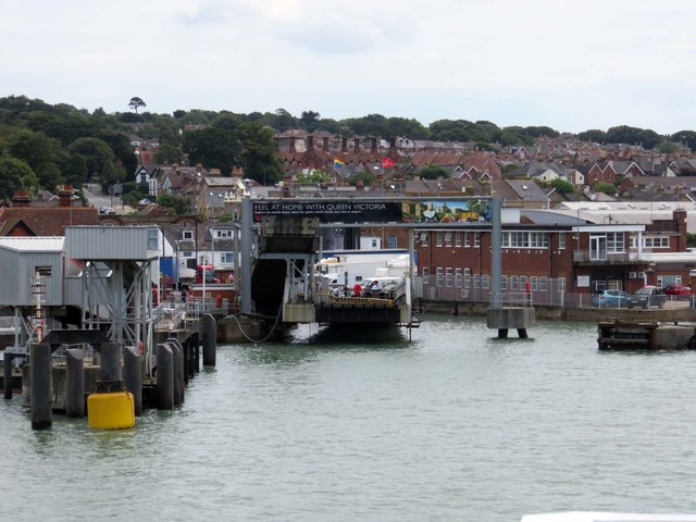 The Red Funnel Terminal in East Cowes