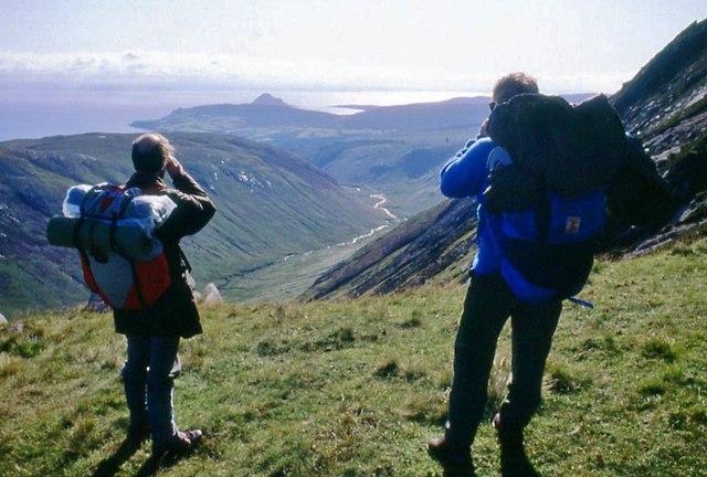 On Beinn a' Chliabhain looking down Glen Rosa