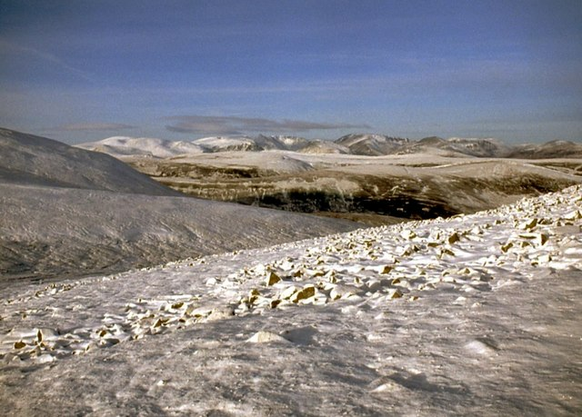 Wintry Cairngorms from Carn Creagach