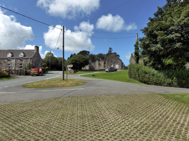Road Junction at Llawhaden