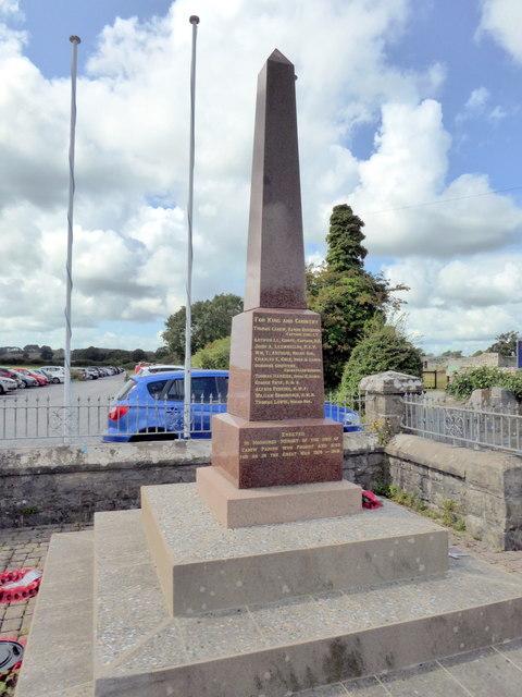 War Memorial, Carew