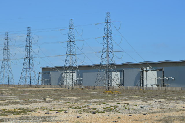 Transformer building and pylons