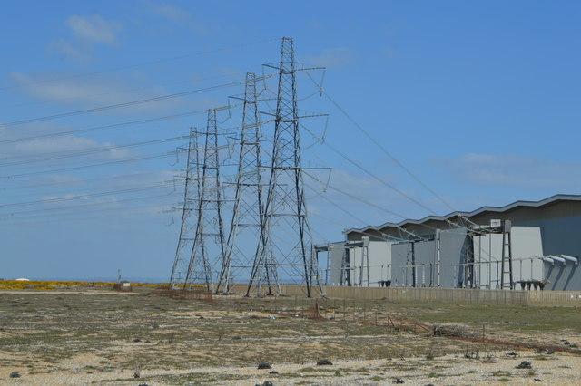 Pylons and transformer