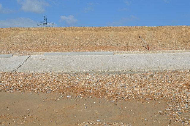 Ruined concrete, Dungeness Beach