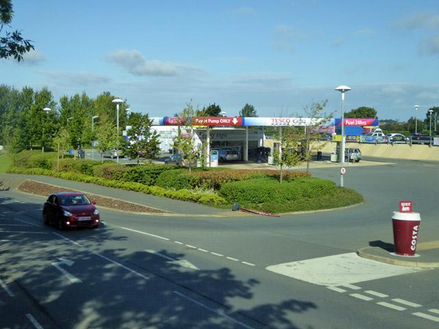 Tesco filling station, Ryde