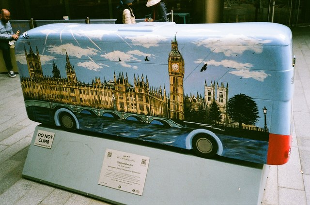 View of Jenny Leonard's Westminster Bus in Seaforth Place, off Victoria Street #2