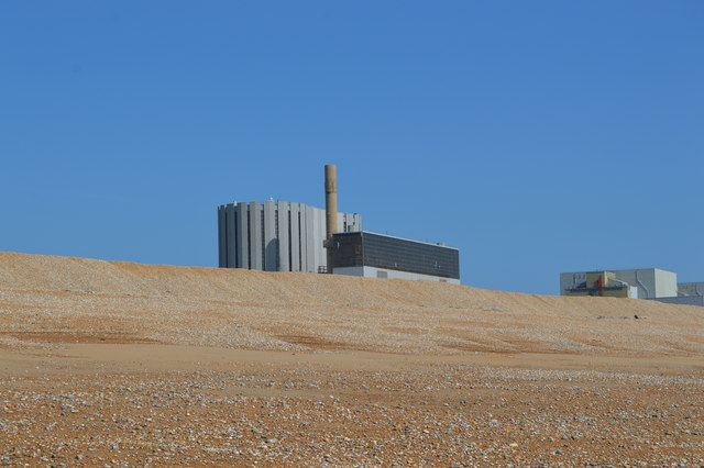 Dungeness Power Station and beach