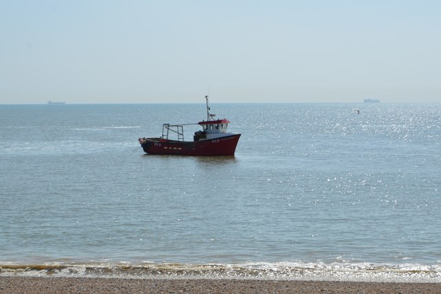 Fishing boat off Dungeness