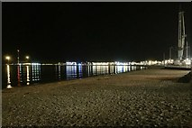 SY6879 : South on Weymouth beach, late evening, August by Robin Stott