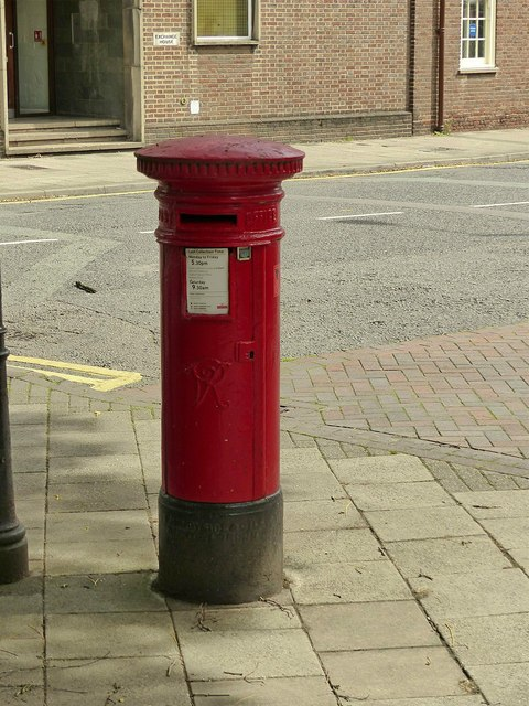 Postbox ref: ST16 23, Eastgate Street, Stafford