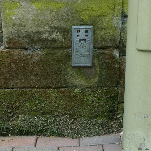 Flush bracket bench mark, Borough Hall, Stafford