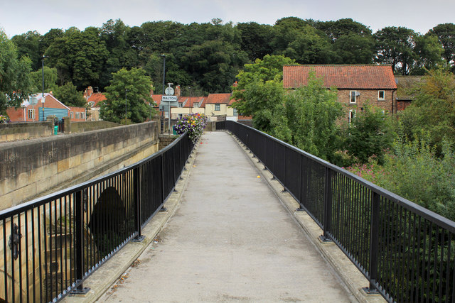Pedestrian Thoroughfare erected beside the County Bridge