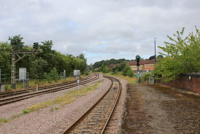 Looking West from the Platform at Malton Station